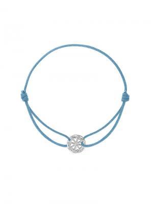 Браслет на нитке с оберегом Молвинец KU&KU. Цвет: голубой, серебристый