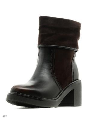 Ботинки Makfly. Цвет: коричневый