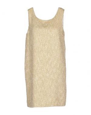 Короткое платье ELLA LUNA. Цвет: слоновая кость