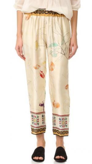 Шелковые брюки Senorita Giada Forte. Цвет: dia