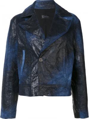 Куртка Cropped Moto Judson Harmon. Цвет: синий