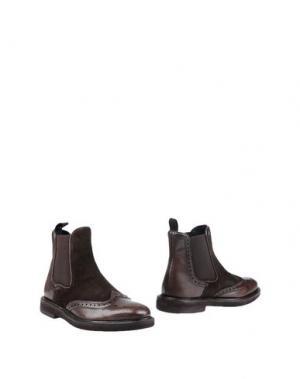 Полусапоги и высокие ботинки DIMATTIA. Цвет: темно-коричневый