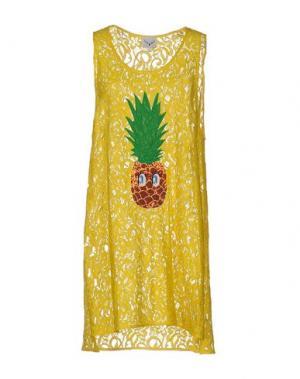 Короткое платье LEITMOTIV. Цвет: желтый