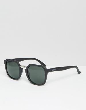 Mr Boho Солнцезащитные очки в матовой черной оправе с классическими стеклами M. Цвет: черный