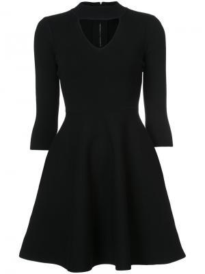 Платье с V-образным вырезом Milly. Цвет: чёрный