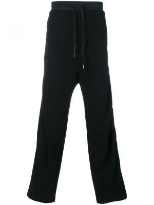 Спортивные брюки с заниженной проймой D.Gnak. Цвет: чёрный