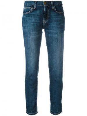 Укороченные прямые джинсы Current/Elliott. Цвет: синий