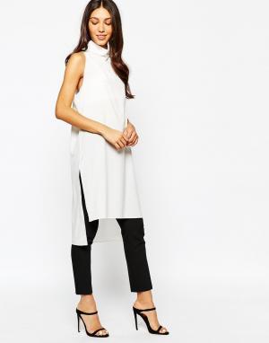 Never Fully Dressed Туника с высокой горловиной и разрезами по бокам. Цвет: белый