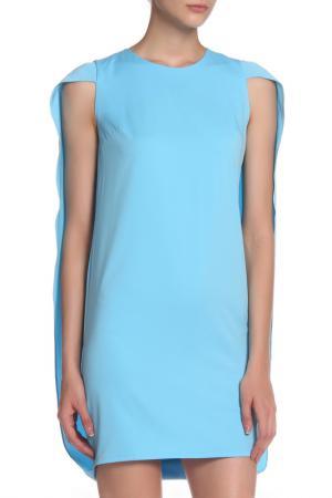 Платье с круглым вырезом горловины IQDRESS. Цвет: голубой