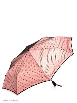 Зонт Flioraj. Цвет: бледно-розовый, черный