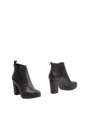 Полусапоги и высокие ботинки JANET SPORT. Цвет: свинцово-серый