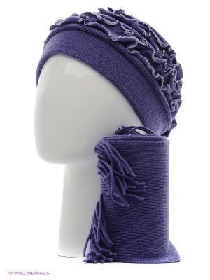 Шапка, шарф Vittorio Richi. Цвет: сливовый