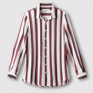 Рубашка в полоску CEVEDA SUD EXPRESS. Цвет: экрю