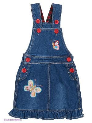 Сарафан джинсовый Kidly. Цвет: синий, красный