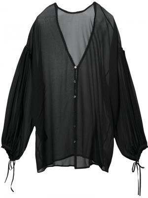 Блузка с V-образным вырезом Isabel Benenato. Цвет: чёрный