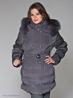 Пальто Alisa Line. Цвет: темно-серый