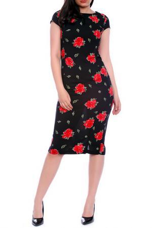 Платье Emma Monti. Цвет: black, red