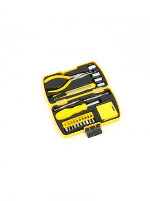 Набор из 20 инструментов в пластиковом кейсе Stinger. Цвет: черный, серебристый, желтый