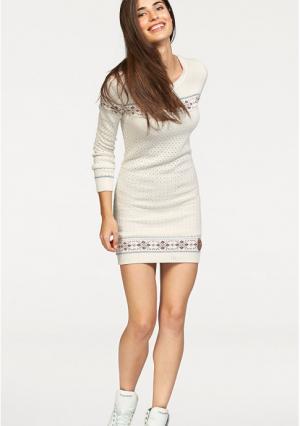 Платье Kangaroos. Цвет: синий/с рисунком, цвет белой шерсти с рисунком