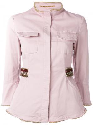 Куртка-рубашка Bazar Deluxe. Цвет: розовый и фиолетовый