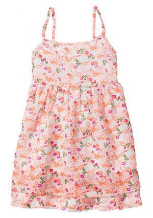 Платье. Цвет: оливковый, розовый