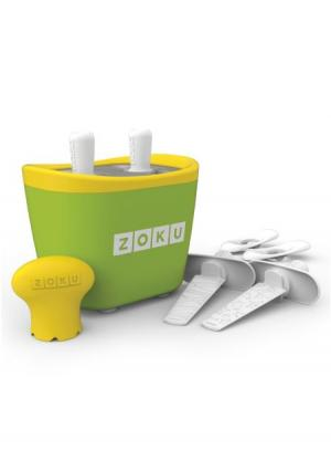 Набор для приготовления мороженого Duo Quick Pop Maker Zoku. Цвет: зеленый, оранжевый