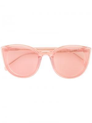 Солнцезащитные очки в оправе кошачий глаз Spektre. Цвет: розовый и фиолетовый