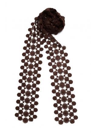 Кружевной шарф 143357 Plauener Spitze. Цвет: коричневый