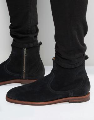 Hudson London Замшевые ботинки на молнии. Цвет: черный