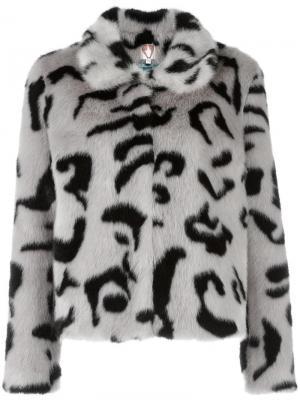 Куртка с меховым эффектом Shrimps. Цвет: серый