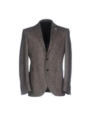 Пиджак LUIGI BIANCHI Mantova. Цвет: свинцово-серый