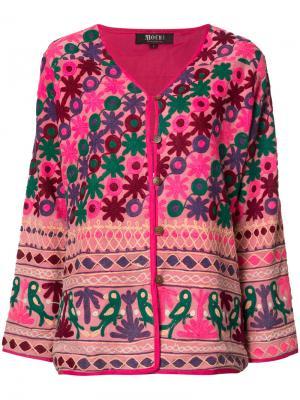 Button-up floral jacket All Things Mochi. Цвет: розовый и фиолетовый