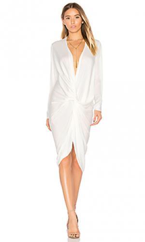 Платье с застёжкой на пуговицы и поясом elana One Fell Swoop. Цвет: белый
