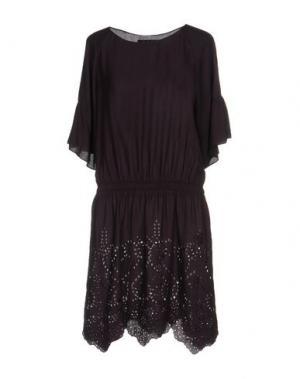 Короткое платье KRISTINA TI. Цвет: баклажанный