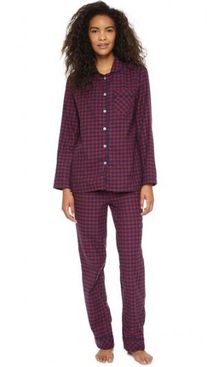 Фланелевая пижама Jamie Three J NYC. Цвет: красный/голубая клетка гингем