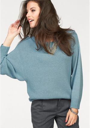 Пуловер Aniston. Цвет: голубой