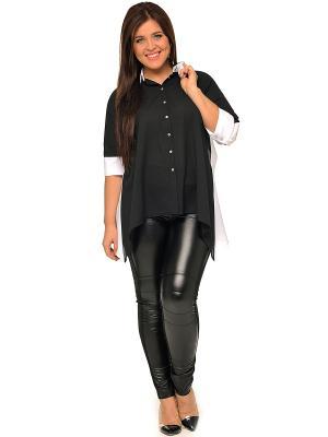 Блузка SVESTA. Цвет: черный, антрацитовый