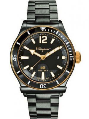 Часы Salvatore Ferragamo. Цвет: черный