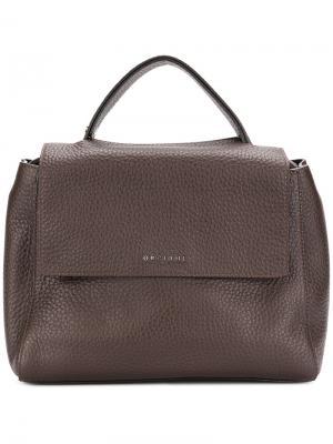 Текстурированная сумка-тоут Orciani. Цвет: коричневый