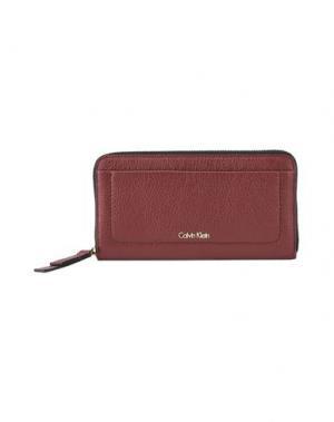 Бумажник CALVIN KLEIN. Цвет: кирпично-красный