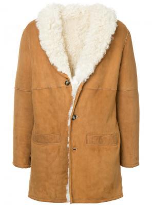 Пальто с цигейкой Éditions M.R. Цвет: коричневый