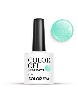 Гель-лак Color Gel Тон Mint SCG098/Мята SOLOMEYA. Цвет: зеленый, бирюзовый