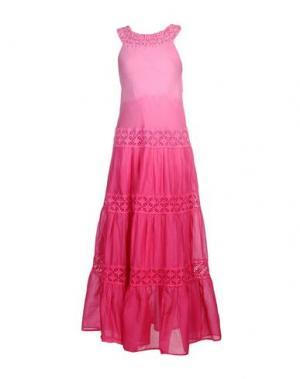 Длинное платье TEMPTATION. Цвет: фуксия