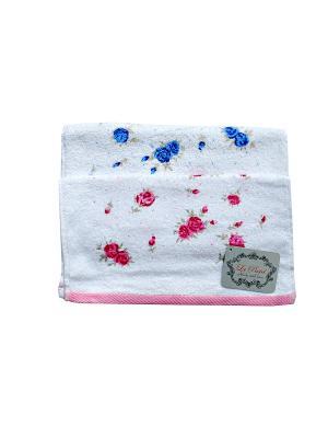 Комплект полотенец Цветы 2 предмета 35х70 La Pastel. Цвет: белый, голубой, розовый