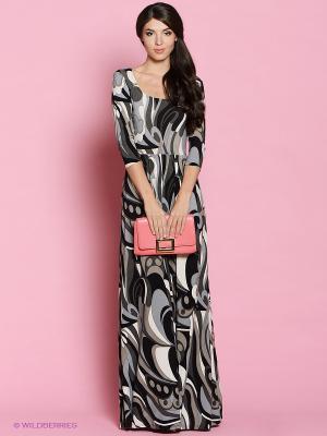 Платье Colambetta. Цвет: серый, черный