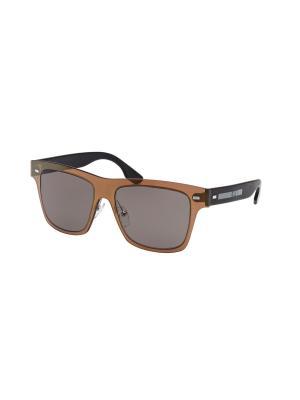 Солнцезащитные очки McQueen. Цвет: бронзовый