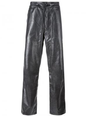 Прямые брюки на шнурке Telfar. Цвет: металлический
