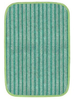 Коврик для дома полоска, 50х75 см IQ-KOMFORT. Цвет: зеленый