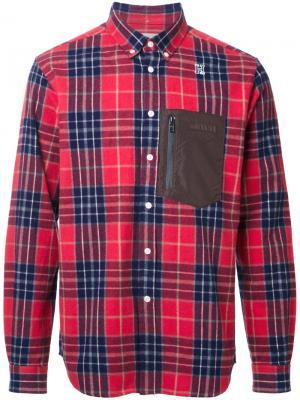 Рубашка Camoprint Hbns. Цвет: красный