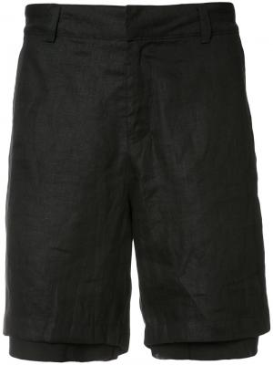 Многослойные шорты Skingraft. Цвет: чёрный
